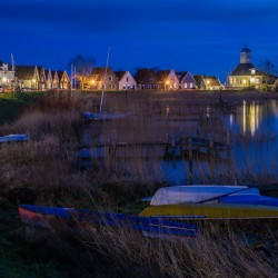 Night falls over Durgerdam