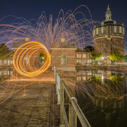 Rotterdam, NL - Burn at the water tower