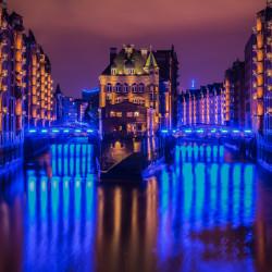 Hamburg, DE - Wasserschloss Speicherstadt