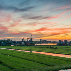 Zaandam, NL - Sunset at the Schans