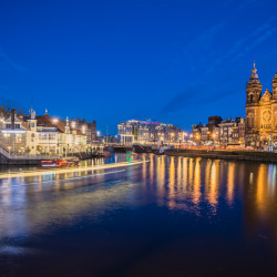 Nightfall at Amsterdam CS