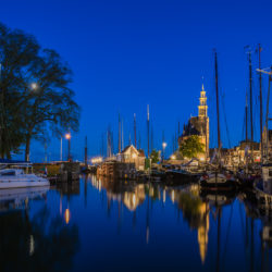 Hoorn, NL - Moonlight at the harbour