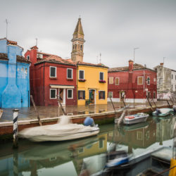 Venice, IT - Crooked tower of Burano