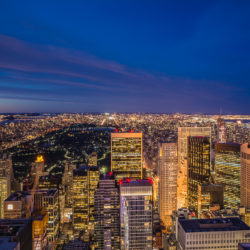 New York City, USA - Top of the Rock, blue hour